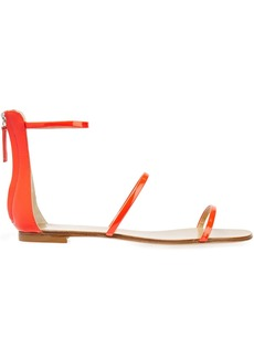Giuseppe Zanotti Woman Roll 10 Patent-leather Sandals Bright Orange
