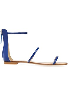 Giuseppe Zanotti Woman Roll 10 Patent-leather Sandals Cobalt Blue