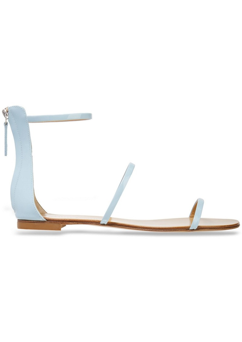 Giuseppe Zanotti Woman Roll 10 Patent-leather Sandals Sky Blue