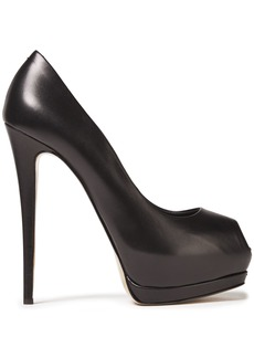 Giuseppe Zanotti Woman Sharon 105 Leather Platform Pumps Black