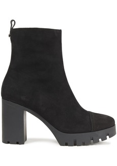 Giuseppe Zanotti Woman Suede Platform Ankle Boots Black