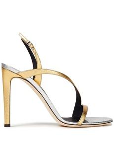 Giuseppe Zanotti Woman Polina Two-tone Metallic Leather Slingback Sandals Gold