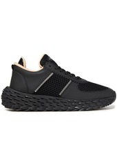 Giuseppe Zanotti Woman Urchin Leather And Mesh Sneakers Black