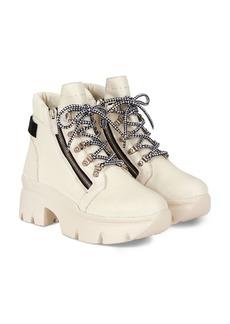 Giuseppe Zanotti Women's Apocalypse 20 Lug Sole Double Zip Platform Hiking Boots