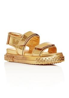 Giuseppe Zanotti Women's Blabber Metallic Sport Slingback Sandals