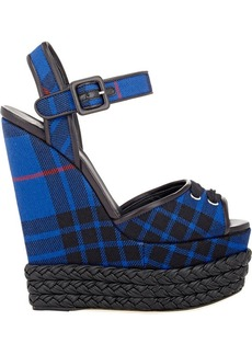 Giuseppe Zanotti Women's Braided Platform-Wedge Sandals-BLUE Size 6