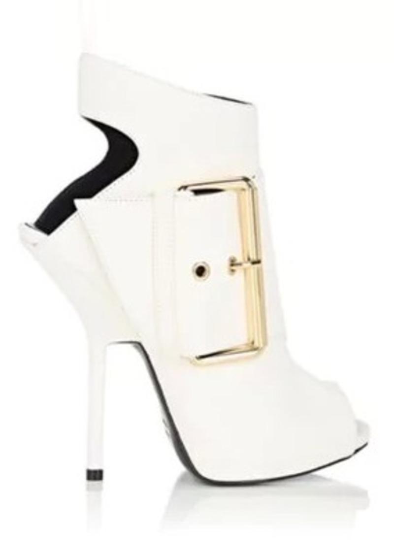 Giuseppe Zanotti Women's Buckle-Detail Suede Ankle Boots