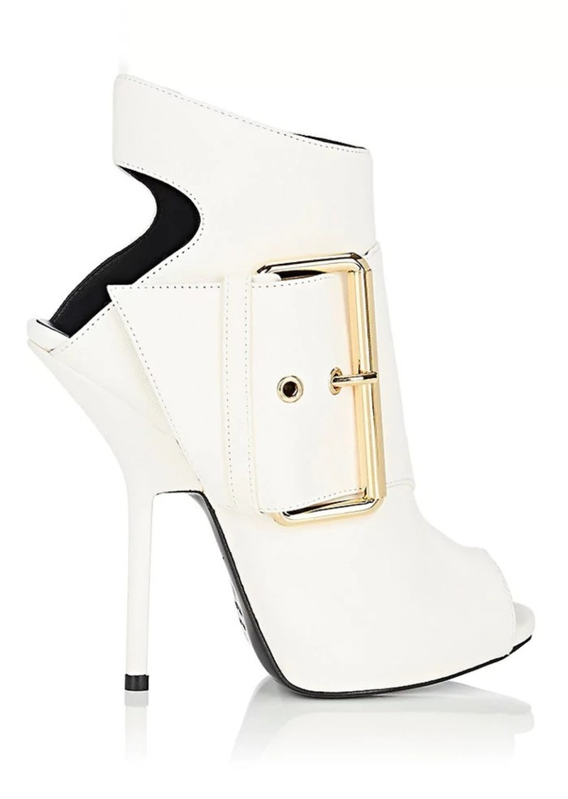 Giuseppe Zanotti Women's Buckle-Detail Suede Ankle Boots