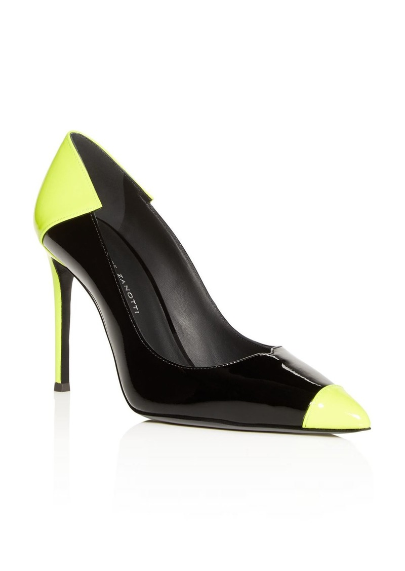 Giuseppe Zanotti Women's Color-Block Cap-Toe Pumps