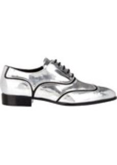 Giuseppe Zanotti Women's Contrast Inset Wingtip Oxfords-Silver Size 10.5
