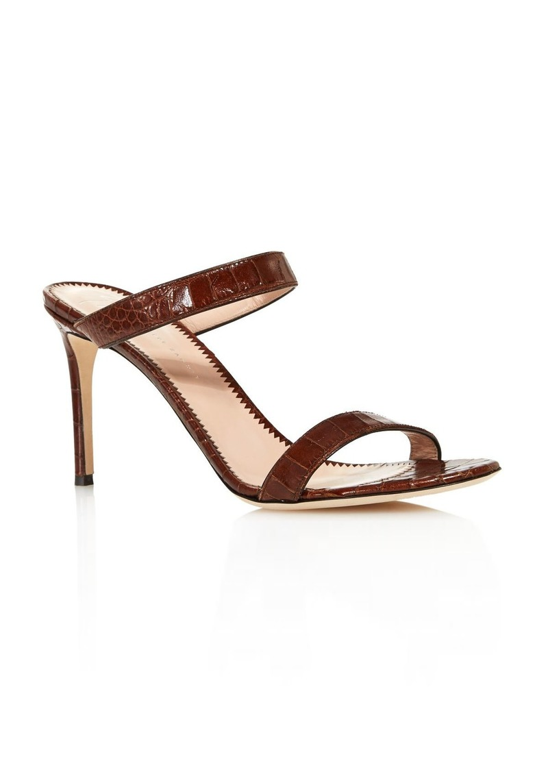 Giuseppe Zanotti Women's Croc-Embossed Double Strap High-Heel Sandals