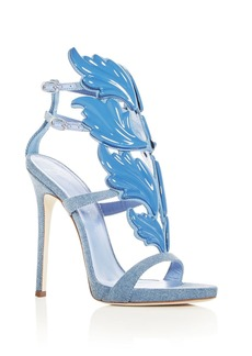 Giuseppe Zanotti Women's Cruel Coline Denim Wing Embellished High-Heel Sandals