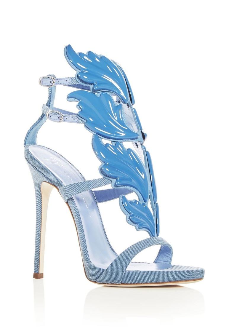 71f1c9a4d7d Giuseppe Zanotti Women s Cruel Coline Denim Wing Embellished High-Heel  Sandals