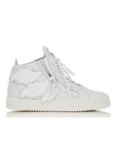 "Giuseppe Zanotti Women's ""Cruel"" Double-Zip Sneakers-WHITE Size 9.5"