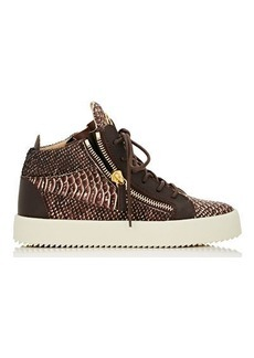 Giuseppe Zanotti Women's Double-Zip Mid-Top Sneakers-Brown Size 9