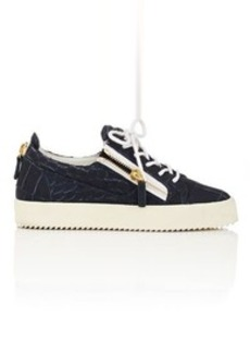 Giuseppe Zanotti Women's Double-Zip Stamped Leather Sneakers
