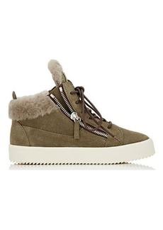 Giuseppe Zanotti Women's Double-Zip Suede Sneakers