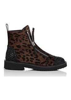 Giuseppe Zanotti Women's Hilary Calf Hair & Glitter Ankle Boots