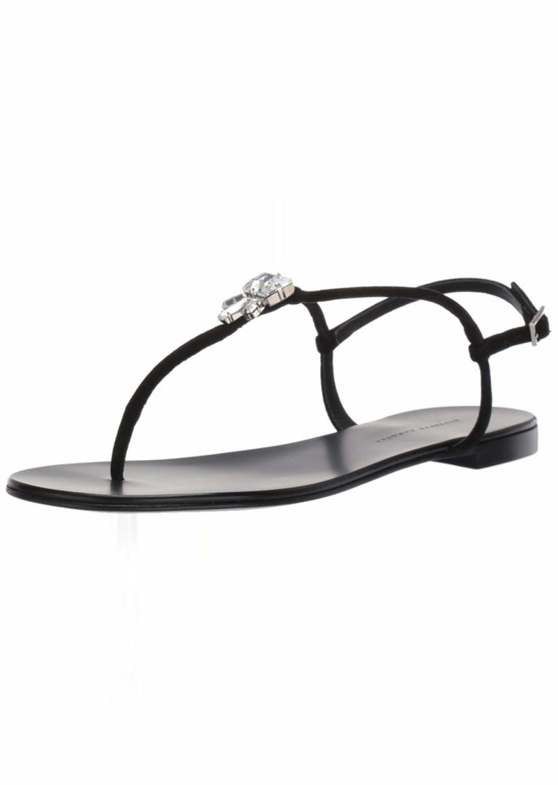GIUSEPPE ZANOTTI Women's I00013 Flat Sandal   B US