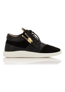 Giuseppe Zanotti Women's Leather & Suede Low-Top Double-Zip Sneakers