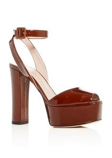 Giuseppe Zanotti Women's Patent Leather High Block-Heel Platform Sandals