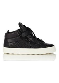 Giuseppe Zanotti Women's Plated-Strap Double-Zip Sneakers