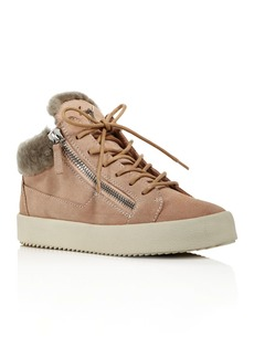 Giuseppe Zanotti Women's Shearling Lined Mid-Top Sneakers