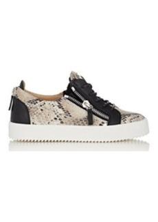 Giuseppe Zanotti Women's Snakeskin-Stamped Double-Zip Sneakers-WHITE Size 10