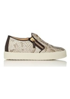 Giuseppe Zanotti Women's Stamped Leather Slip-On Sneakers