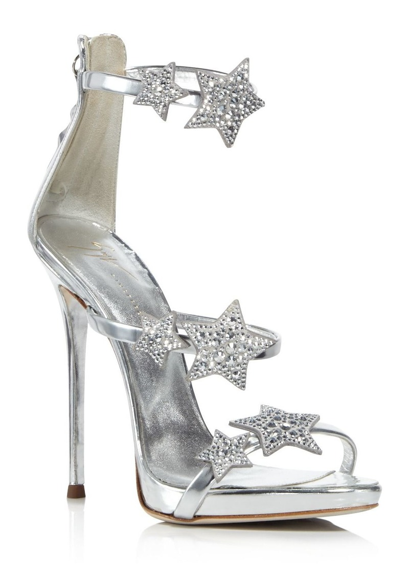 Giuseppe Zanotti Women's Strappy Leather & Crystal Embellished Star High-Heel Sandals