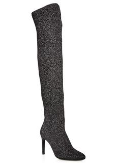 Giuseppe Zanotti Women's Stretch Glitter Over-the-Knee Boots