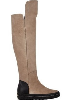Giuseppe Zanotti Women's Suede Over-The-Knee Sneaker Boots-TAN Size 9