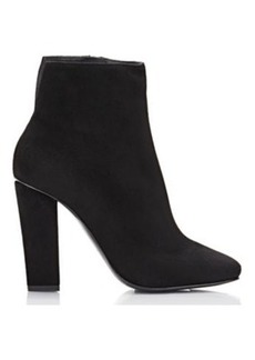 Giuseppe Zanotti Women's Suede Square-Toe Ankle Boots-Black Size 9