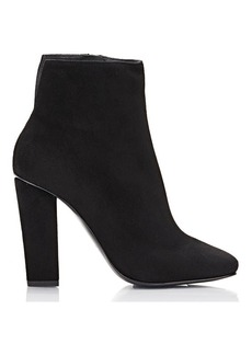 Giuseppe Zanotti Women's Suede Square-Toe Ankle Boots-BLACK Size 6
