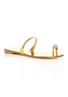 Giuseppe Zanotti Women's Swarovski Crystal Toe Ring Slide Sandals