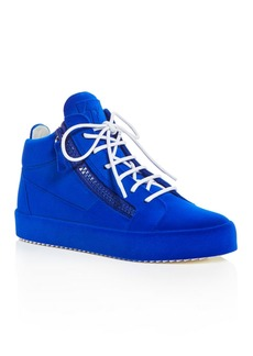 Giuseppe Zanotti Women's Velvet Mid Top Platform Sneakers