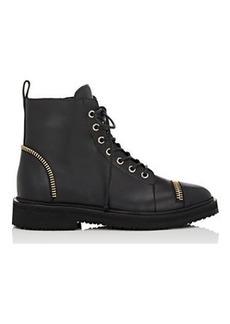 Giuseppe Zanotti Women's Zip-Embellished Combat Boots-Black Size 7