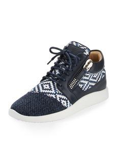 Giuseppe Zanotti Woven Leather High-Top Sneaker