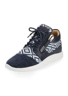 Giuseppe Zanotti Woven Leather High-Top Sneaker