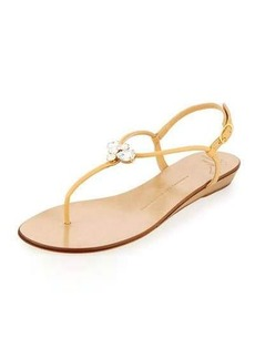Giuseppe Zanotti Zerlock Jeweled Thong Sandal
