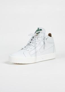 Giuseppe Zanotti Zip Side Mid Top Sneakers