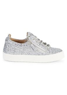 Giuseppe Zanotti Glittered Velvet Zip Sneakers