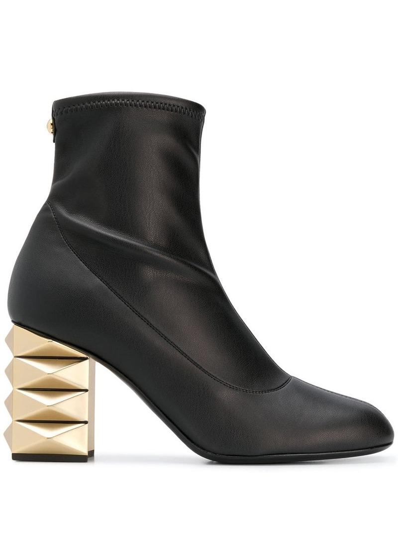 Giuseppe Zanotti gold-tone heel boots