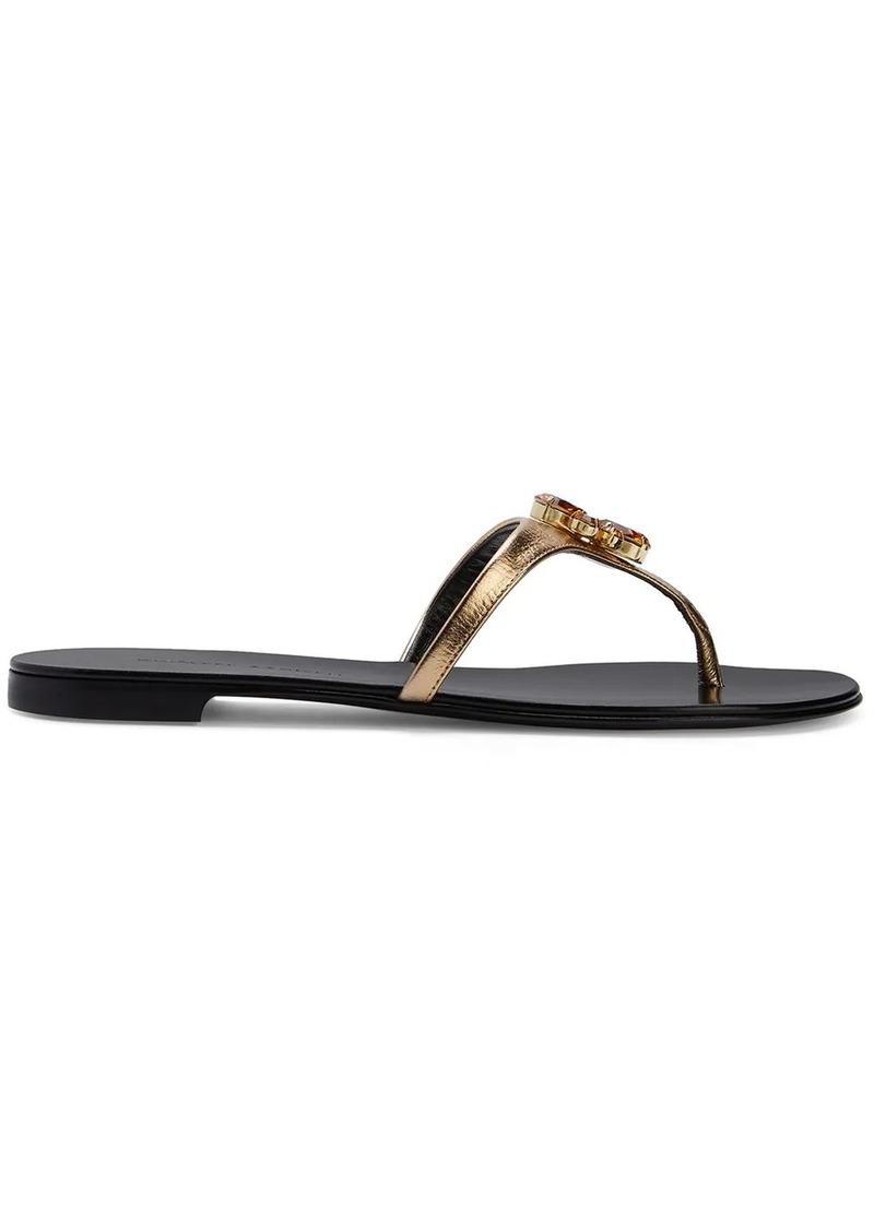 Giuseppe Zanotti Isla crystal-embellished flip-flops