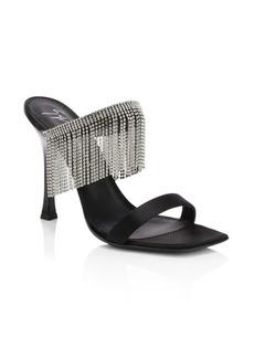 Giuseppe Zanotti Jewel Fringe Stiletto Sandals