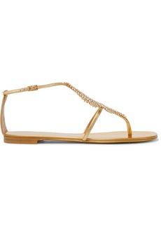 Giuseppe Zanotti Josie Embellished Mirrored-leather Sandals