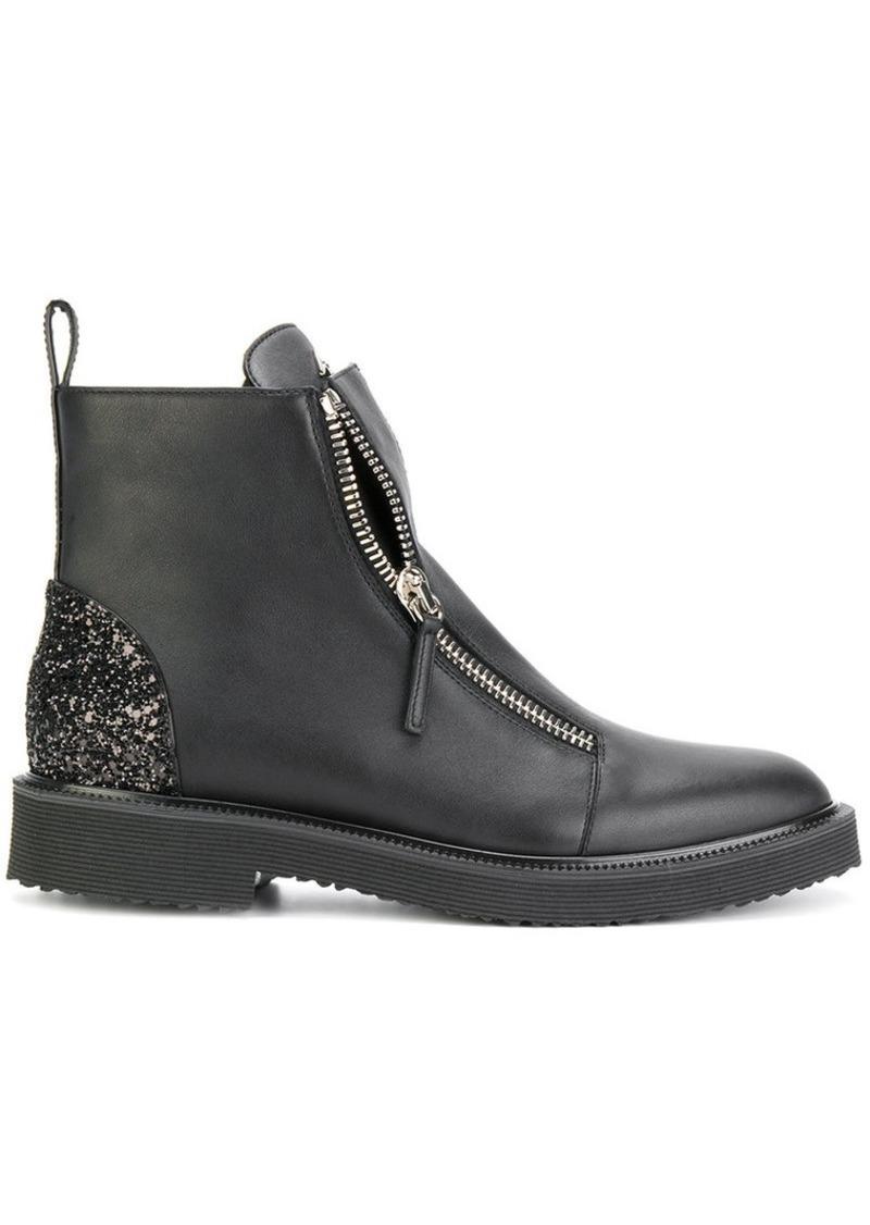 fd60ec998b10e Giuseppe Zanotti Kat glitter panel boots   Shoes