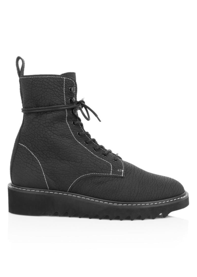 Giuseppe Zanotti Lace-Up Shearling-Lined Platform Boots