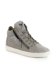 Giuseppe Zanotti Leather & Suede Side-Zip Sneakers