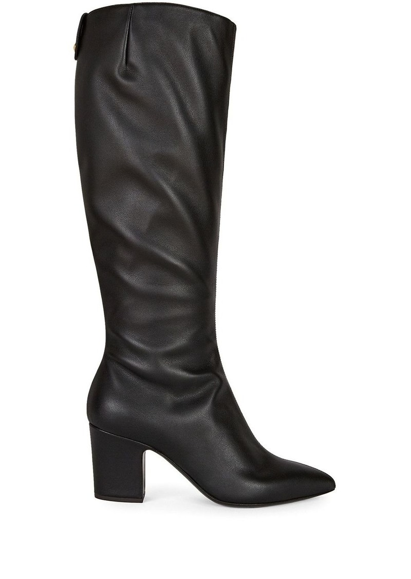 Giuseppe Zanotti leather boots with gathered detailing